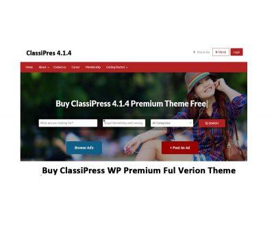 classipress wordpress premium theme