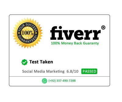 social media marketing fiverr test pass guaranteed