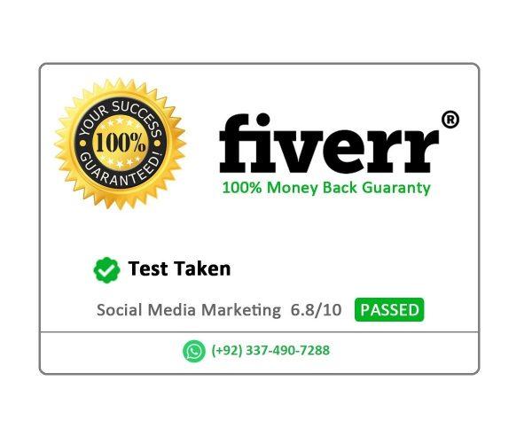 social media marketing fiverr test pass guaranteed