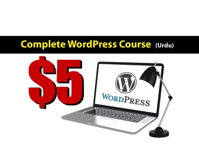 wordpress complete course in urdu web development